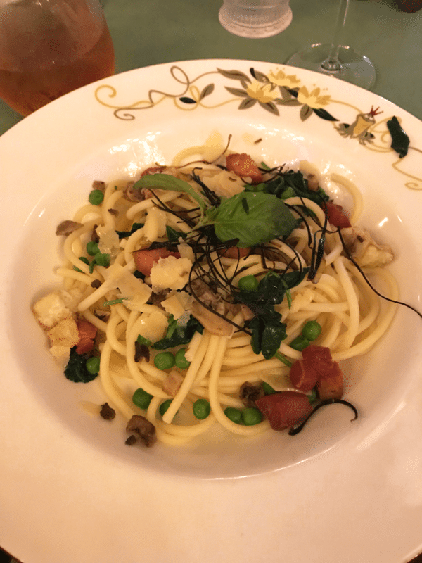 Charlotte La Bouff's Bucatini Pasta at Tiana's Place on the Disney Wonder.