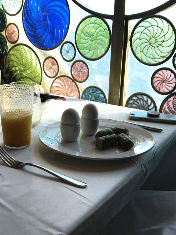 Breakfast served at Triton's on the Disney Cruise Wonder ship.