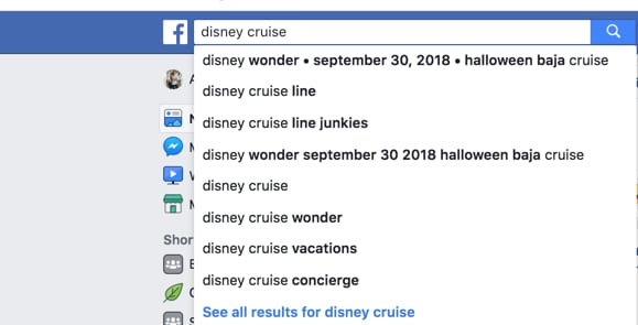 How to search for Disney Groups on Facebook.
