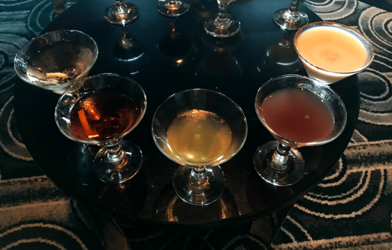 Martini tasting on The Disney Wonder.