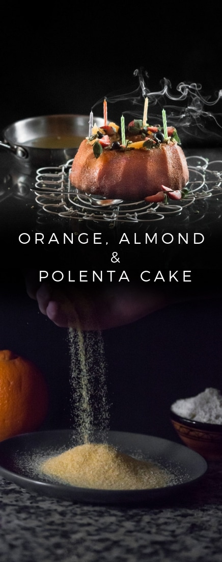Moist and deliciously bold, this Gluten Free Orange, Almond and Polenta Cake is DELISH!  Gorgeous texture that soaks up the orange syrup like a sponge! #cake #glutenfree | recipesworthrepeating.com