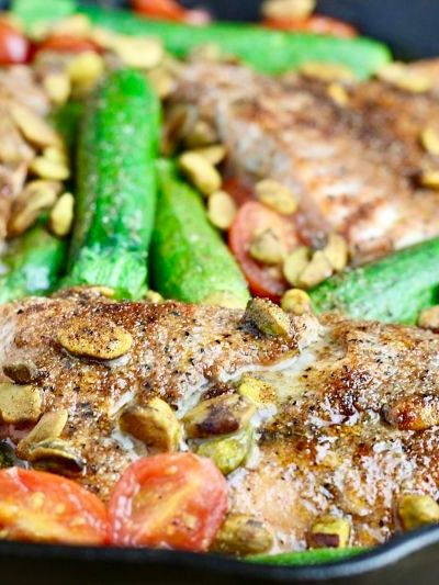 One Pan Pistachio Salmon