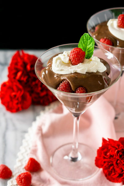 Raspberry Mocha Pudding Parfait