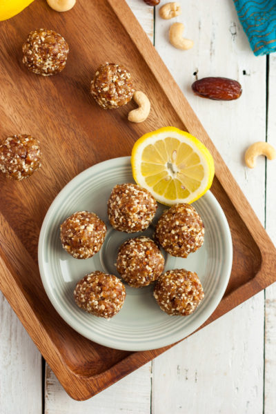 No Bake Lemon Bliss Balls