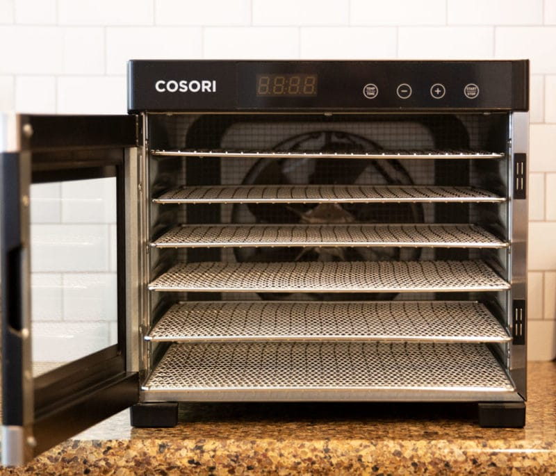 Cosori Food Dehydrator on counter.