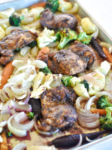 Easy Balsamic Chicken Sheet Pan Supper Dinner Recipe Idea