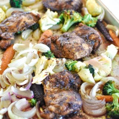 Easy Balsamic Chicken Sheet Pan Supper Dinner Recipe Idea