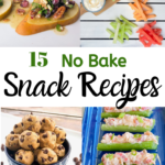 Collage of 4 no bake snack recipe images