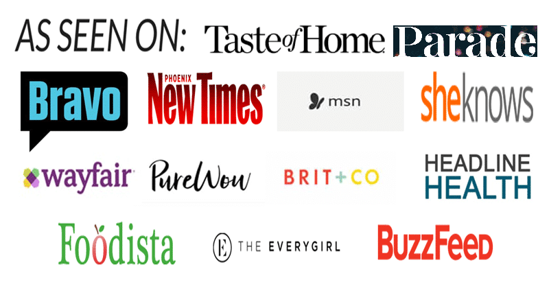 Logos of places where Recipes Worth Repeating was seen on
