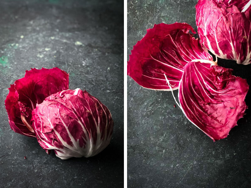 Head of Radicchio on counter.