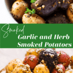 Gemstone potatoes smoked in garlic and seasoning topped with olive oil.