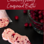 Unsalted butter, dark brown sugar, honey and fresh cranberries on a table.