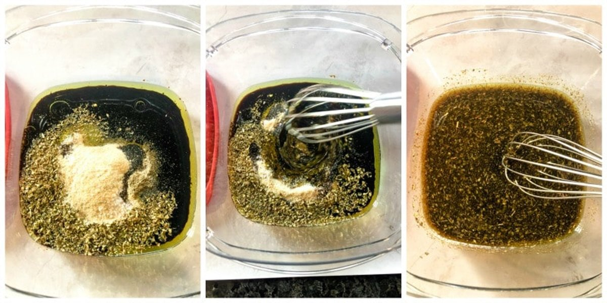 Chicken marinade ingredients being mixed.