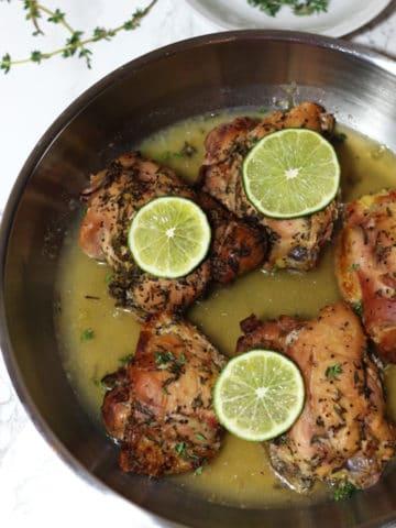 Gluten Free Lemon Thyme Chicken with Garlic and Rosemary