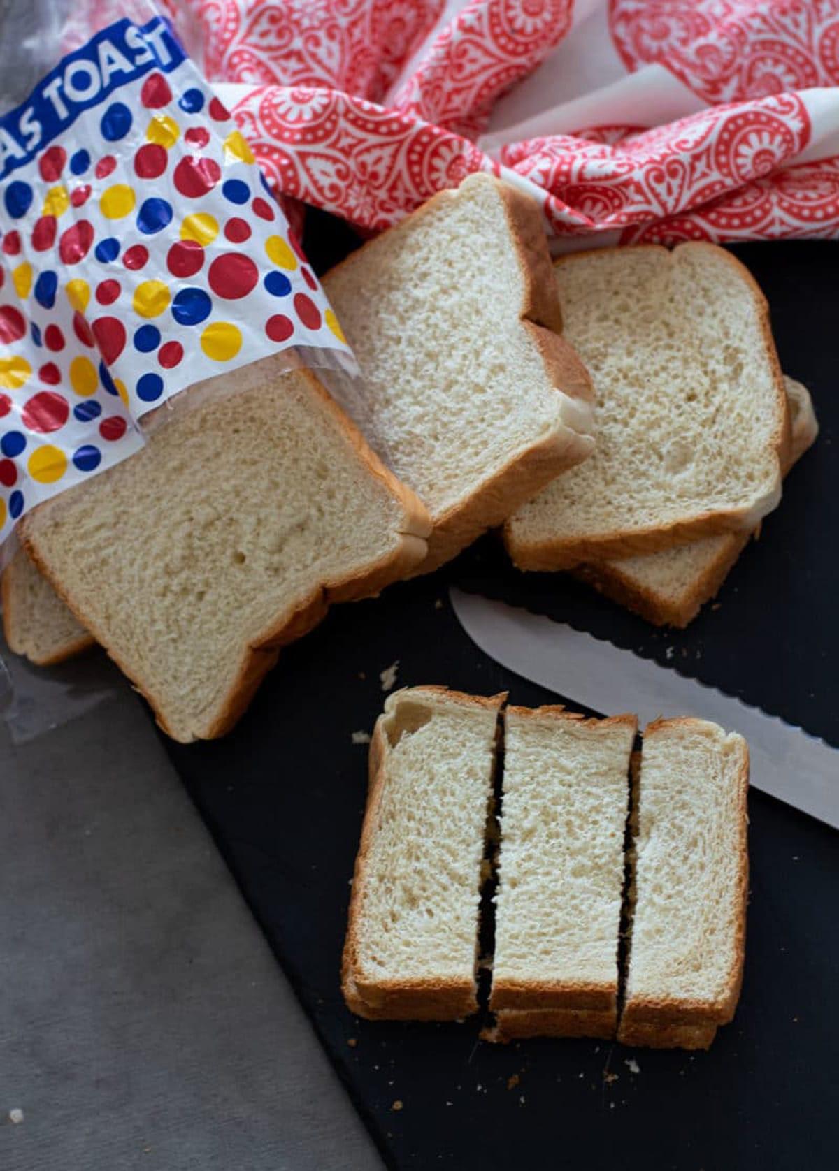 Texas Toast sliced to make French Toast sticks.